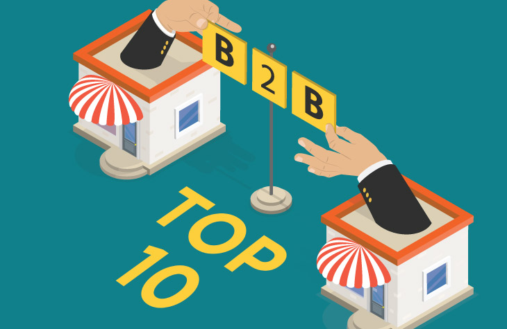 Top 10 B2B eCommerce Platforms for 2019 (Source: namogoo.com)